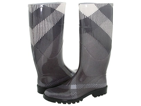 Burberry Check Patterned Rain Boots