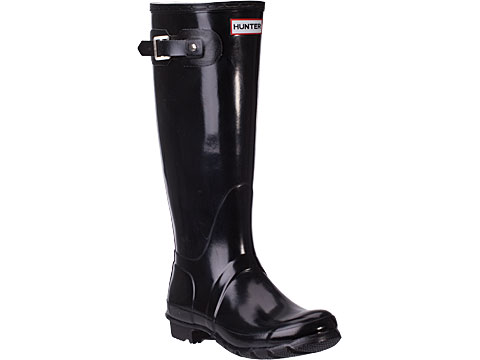 Hunter Women's Hunter Original Tall Welly Gloss Rubber Boot Black