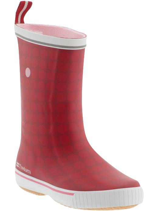 Tretorn Glad Rain Boots Red Polka Dot